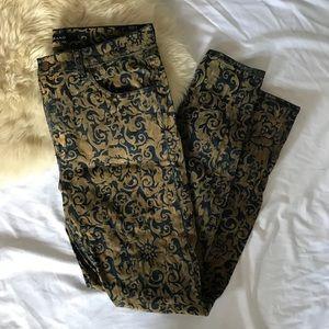JBRAND flocked brocade Jeans sz 31
